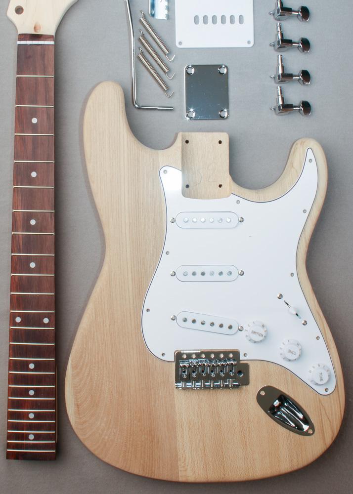 basic s style electric guitar kit alloy guitars. Black Bedroom Furniture Sets. Home Design Ideas